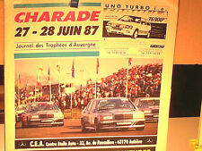 PROGRAMME TROPHEES D'AUVERGNE CHARADE 1987/COUPE R5/FORMULE FORD/GR.A/PRODUCTION