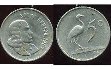 AFRIQUE DU SUD  5 cents 1965  ( africa )   ( bis )