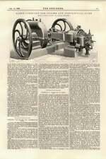 1895 Bomba Centrífuga combinado motor de gas Eje Bobina Crossley reparaciones Lievin
