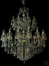 LARGEST CHANDELIER ON EBAY 24 LIGHTS 3 FLOORS & FINE CRYSTALS + Antique Silver
