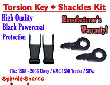 "FORGED Lowering Torsion Keys 2"" - 3"" 88 - 06 Chevy GMC 1500 AND 1"" - 2"" Shackles"