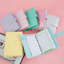 A6 Pvc Notebook Binder Cover Planner Loose Leaf Folder Cash Budget Envelope Uk
