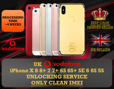 GB UK VODAFONE UNLOCK SERVICE FOR IPHONE XS X 8 8+8 PLUS 7 7+ SE 6S 6 UNLOCKING