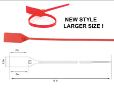 BLANK RED OFF WHITE ZIP TIE (LARGER SIZE)
