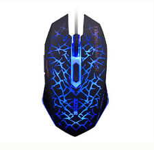 UK 7D 2400DPI AZZOR The Phantom Glare 6 Buttons Gaming Mouse WOW LOL MMO CF CS