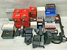 Vintage Lot of 23 Film Camera Flash Units & Accessories For Parts / Repair