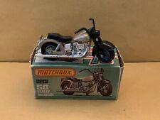 Matchbox Superfast No. 50 Harley Davidson Metallic Light Tan With Box
