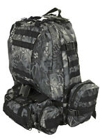 LARGE ASSAULT TACTICAL BACKPACK - NEW COLOR BLACK WEB - 600 DENIER FABRIC