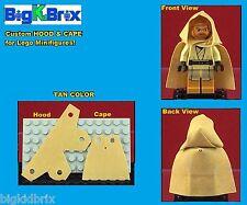 HOOD & CAPE (TAN) Custom made for LEGO Minifigures PRICE gets you 2 SETS