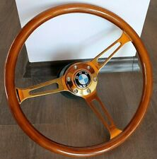 Steering Wheel BMW Wood E3 E9 E12 E21 E23 E24 E28 2002 Golden Wooden 1968-1984