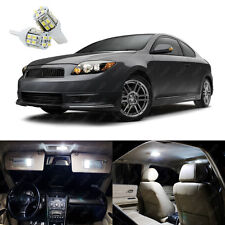 8 x Xenon White LED Interior Lights Package Kit Deal For Scion tC TC 2005 - 2007