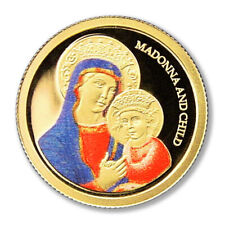 Palau Madonna & Child Gold Coin 2007(ND) $1 Colored Proof