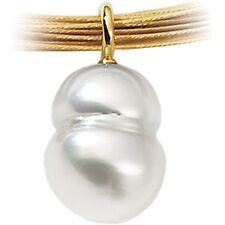 18 KT Yellow Gold & Paspaley South Sea Pearl Pendant Simple Elegant Design NEW