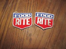 2 vintage Food Rite patches patch good condition  VINTAGE AND ORIGINAL