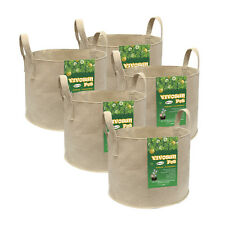 VIVOSUN 5-Pack 10 Gallons Heavy Duty Thickened Nonwoven Fabric Pots Grow Bags