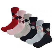 Assorted 1 3 or 6 Pairs Womens Argyle Ankle Union Socks in Many Colours UK 4-8