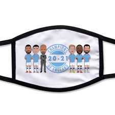 City Champions 2021 Vector Heroes Printed Adult Face Mask Manchester Man Foden