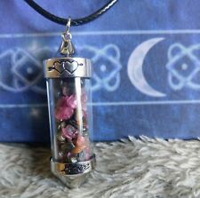 tourmaline necklace pendant pendulum crystal healing