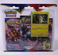 Pokemon Sword & Shield TCG Cards - MORPEKO BLISTER 3 PACK Boosters + 1 Coin