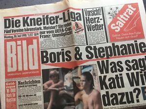 BILDzeitung 30.07.1990 Juli 30.7.1990 Geschenk 29. 30. 31. 32. Geburtstag