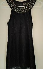 Guess Women's Top Jewel Embellished Lined Black Sz 3 Keyhole Silk Blend Cami