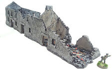 World War 2 Mandertory Miniatures 28mm Normandy Ruined Tenement, Bolt Action