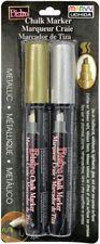 Bistro Chalk Marker Chisel Tip Set 2/Pkg-Metallics - Gold & Silver
