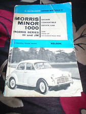 P. OLYSLAGER MORRIS MINOR  MANUAL + PARTS CAT  + ILLUSTRATIONS PRICES PAGES
