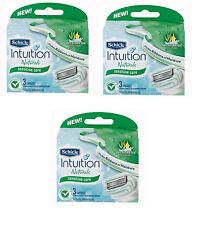genuine Schick Intuition Naturals Razor Blade Refills 9 Cartridges