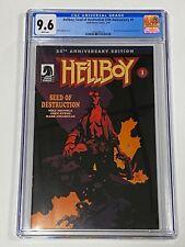 HELLBOY SEED OF DESTRUCTION 25th Anniversary #1 CGC 9.6 Dark Horse Comics 3/19