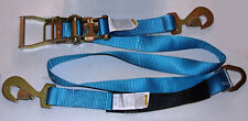 Axle Straps Car Hauler Trailer Auto Tie Down Ratchet Strap Tow BLUE NEW