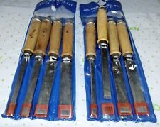 4PCS WOODWORKING CARVING HAND CHISEL WOOD FIRMER 2 SET=8 pcs