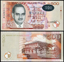 MAURITIUS 500 RUPEES 2001 P 58 UNC
