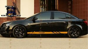 Side Stripe Decal Graphic Sticker Kit for Chevrolet Cruze