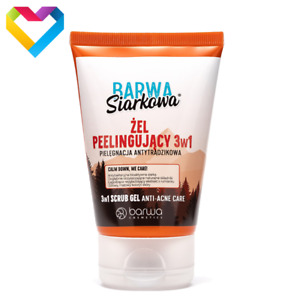 Barwa Sulphur Face Peeling Gel Acne Prone Skin Anti Acne 3 in 1 120ml Siarkowa