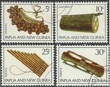 Papua New Guinea 1969 MUSICAL INSTRUMENTS(4) Very Fine Used SG165-8