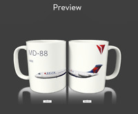Delta Air Lines McDonnell Douglas MD-80 Airplane Coffee Mug Cup