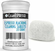 20 Pack of Breville Espresso Cleaning Tablets Generics plus 1 Filter     Cleaner