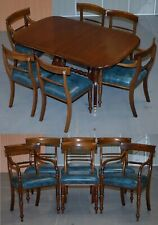 RRP £9100 BRIGHTS OF NETTLEBED BURR WALNUT REGENCY EXTENDING DINING TABLE CHAIRS
