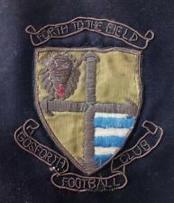 Vintage Crested Cloth Patch Badge Gosforth Football Club Forth to the Field