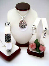 """Brighton """"CONTEMPO SHELL"""" Necklace-Earring-Bracelet Set (MSR$122) NWT/Pouch"""