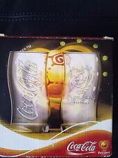 4 New Rare Glasses Cups Mugs Coca Cola Euro 2004 Portugal  Collection Uefa Coke
