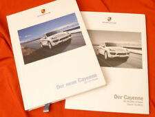 2011 PORSCHE CAYENNE Hardcover brochure prospetto Set DIESEL S Turbo - 08/2010