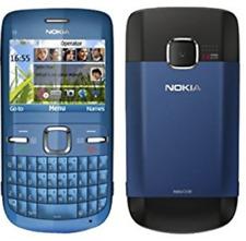Nokia C3-00 Wifi Qwerty Keypad Camera Unlocked Mobile Phone Pink & Blue UKSeller