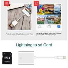Lightning to sd Card Camera Reader Adapter for Apple iPhone 5s 6 7 8 Plus XS Max