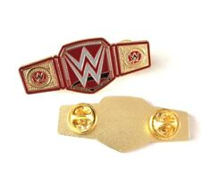 WWE Universal Championship Belt, WWF WCW Hasbro Enamel Pin Badge, ECW, Smackdown