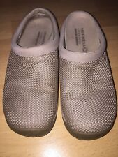 Womens beige mesh clogs,  shoes, Merrell, sz;8