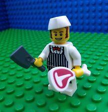 Lego 8827 BUTCHER City Town Knife Chop Meat T Bone Minifigures Series 6