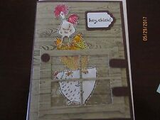 Birthday Handmade Greeting Card Chicken hey chick - using Stampin Up products