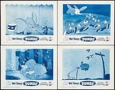 "Poster 4 Lobby Cards Dumbo 1959 (1941) 11""x14"" VF 8.0 Walt Disney"